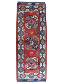 Handmade Short Narrow Afghan Ersari Runner